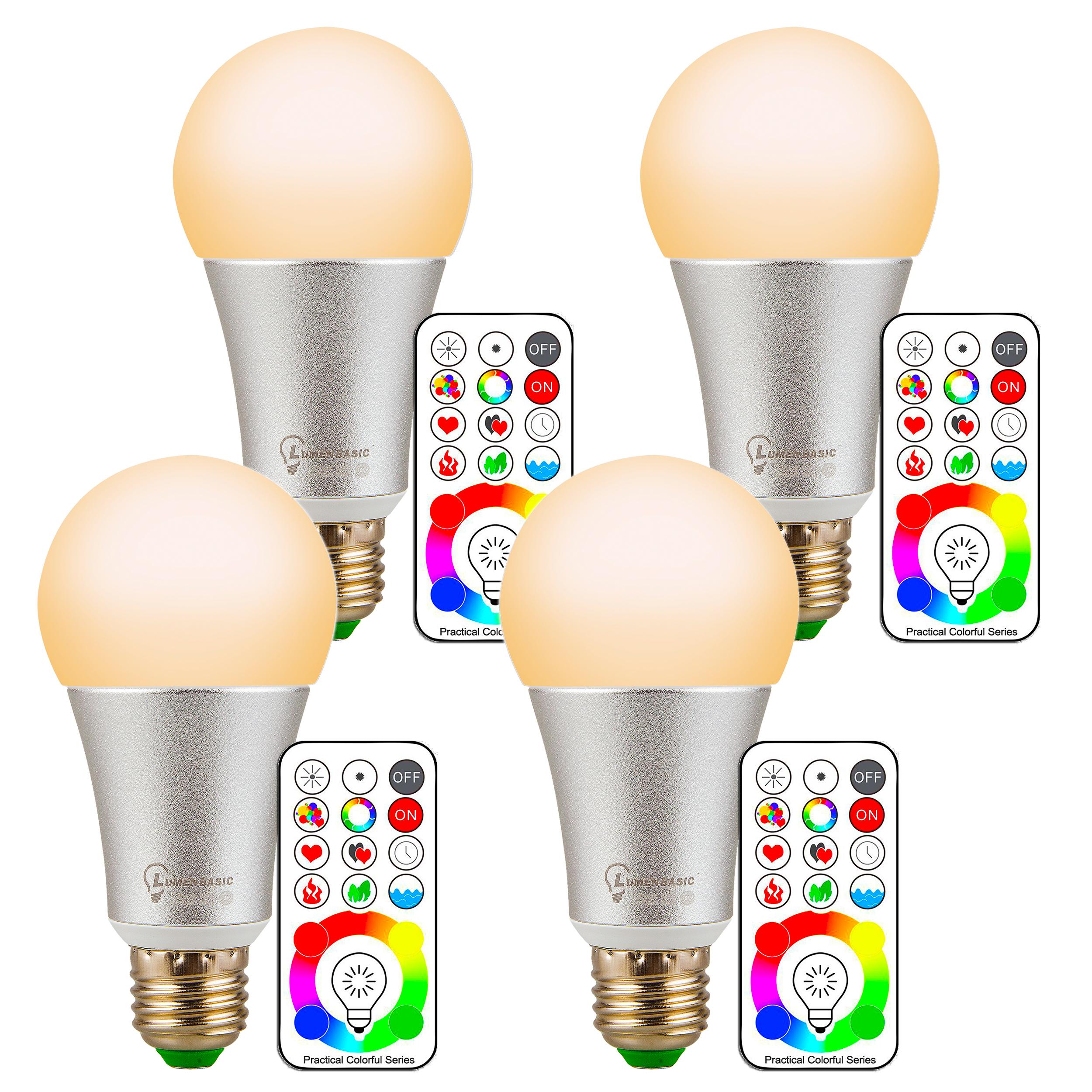 Lumenbasic 60 Watt Color Changing Light Bulbs Rgb Wiring A Bulb