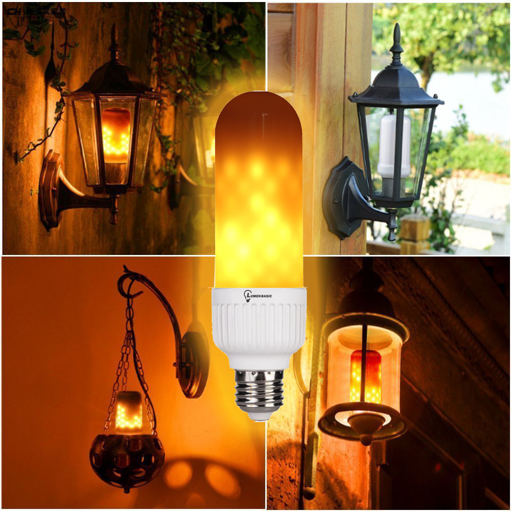 Porch Light Flickers When Off: LumenBasic Flickering Flame Light Bulb E26 LED Flame